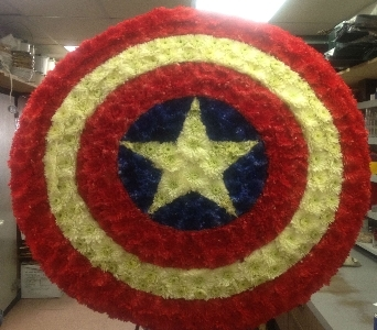 CAPTAIN AMERICA SHIELD in Brooklyn NY, Parkway Flower Shop