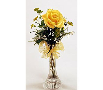 Single-Stem-Yellow-Rose in San Clemente CA, Beach City Florist