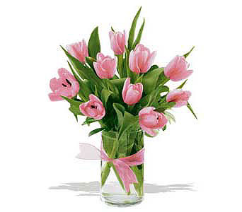 Spring-Tulips--Light-Pink in San Clemente CA, Beach City Florist