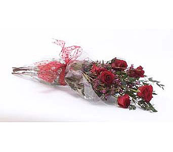 Half-Dozen-Wrapped-Roses in San Clemente CA, Beach City Florist