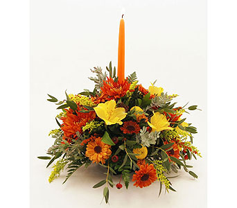 Fiery-Fall-Mixed-Centerpiece in San Clemente CA, Beach City Florist