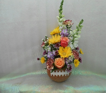 Ceramic Football/with flower arrangement in Tyler TX, The Flower Box