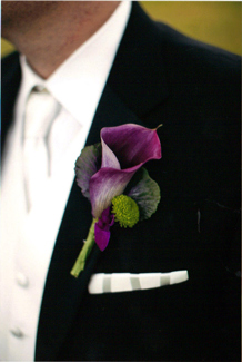 Vivid Groom''s Boutonnier in St Catharines ON, Vine Floral