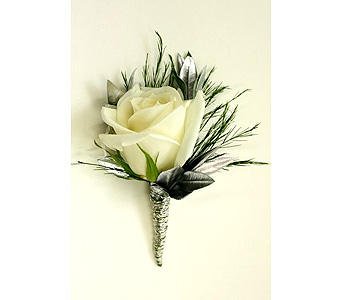 Boutonniere - Rose White in Mission Viejo CA, Conroy's Flowers