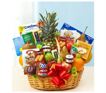 Deluxe Fruit and Gourmet Basket in Bradenton FL, Ms. Scarlett's Flowers & Gifts