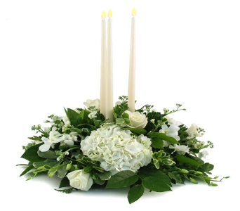 Wedding Trio Candle Centerpiece (Metro-Detroit Are in Southfield MI, Thrifty Florist