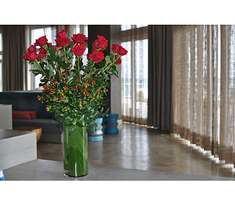 Classic two Dozen Roses in Ft. Lauderdale FL, Jim Threlkel Florist