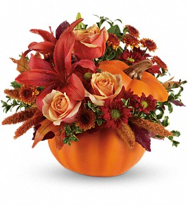 Autumn's Joy by Teleflora in Hampton VA, Bert's Flower Shop