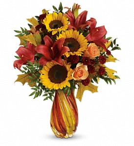 Teleflora's Autumn Beauty Bouquet in Sylmar CA, Saint Germain Flowers Inc.