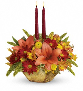 Teleflora's Autumn Reflections Centerpiece in Elk City OK, Hylton's Flowers