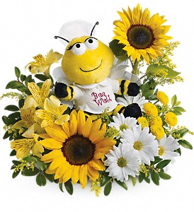 Teleflora's Bee Well Bouquet in Hendersonville NC, Forget-Me-Not Florist