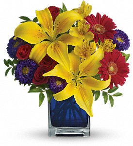 Teleflora's Blue Caribbean in Mount Morris MI, June's Floral Company & Fruit Bouquets