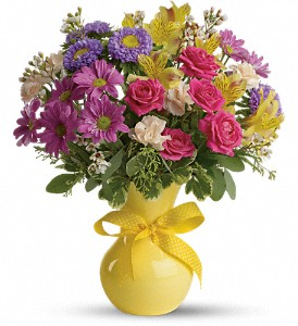 Teleflora's Color It Happy in Menomonee Falls WI, Bank of Flowers