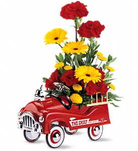 Teleflora's Fire Engine Bouquet in Chatham ON, Pizazz!  Florals & Balloons
