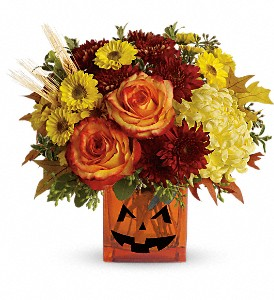 Teleflora's Halloween Glow in Patchogue NY, Mayer's Flower Cottage