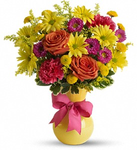 Teleflora's Hooray-diant! in Visalia CA, Creative Flowers