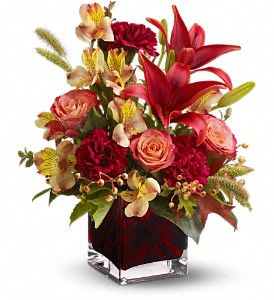 Teleflora's Indian Summer in Dublin OH, Red Blossom Flowers & Gifts