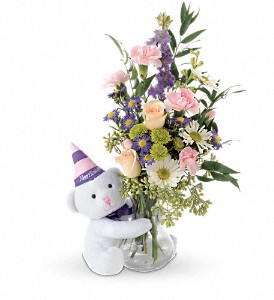 Teleflora's Party Bear in Northumberland PA, Graceful Blossoms