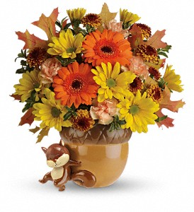 Teleflora's Send a Hug Fetching Fall Bouquet in Grass Lake MI, Designs By Judy