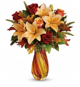 Teleflora's Treasures of Fall Bouquet in Skowhegan ME, Boynton's Greenhouses, Inc.