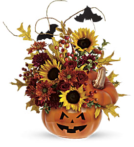 Teleflora's Trick & Treat Bouquet in Visalia CA, Creative Flowers