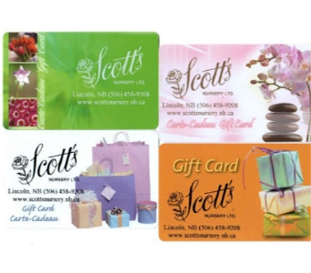 Scott's Gift Card in Lincoln NB, Scott's Nursery, Ltd.
