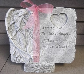 Forever with Angels Stone-(local delivery only) in Circleville OH, Wagner's Flowers
