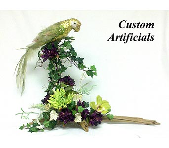Parrot on Driftwood in Naples FL, Naples Flowers, Inc.