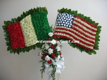 Italy-USA Flag in Jersey City NJ, Entenmann's Florist