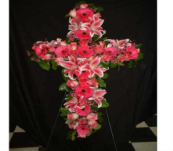 Cross of Beauty - Standing Easel Spray in Dallas TX, Z's Florist