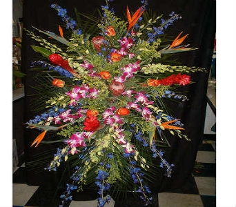 Tropical Blast - Standing Easel Spray in Dallas TX, Z's Florist