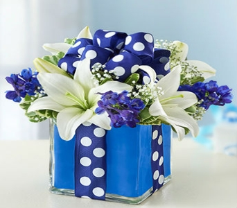 All Wrapped Up in Blue in Manhattan KS, Westloop Floral