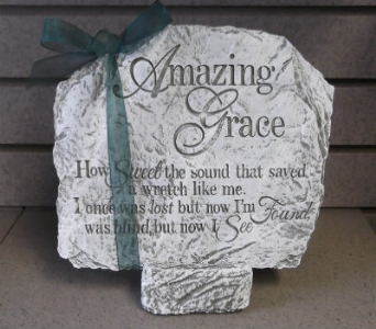 Amazing Grace small stone in Circleville OH, Wagner's Flowers
