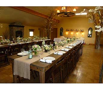 Custom Wedding Reception in West Los Angeles CA, Westwood Flower Garden
