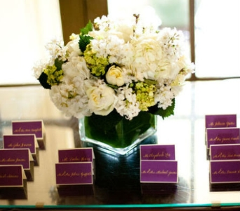 Place Card Table Arrangement in Knoxville TN, The Flower Pot
