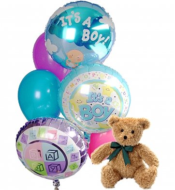 Welcome Baby Balloon Bouquet in Lockport NY, Gould's Flowers & Gifts