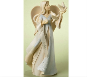 Comfort Angel Figurine with ribbon in Nashville TN, The Bellevue Florist