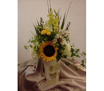 French Summer Flower Bucket in Amherst & Buffalo NY, Plant Place & Flower Basket