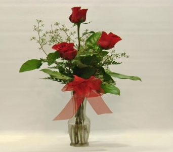 Classic red roses in a bud vase in Herndon VA, Herndon Florist, Inc