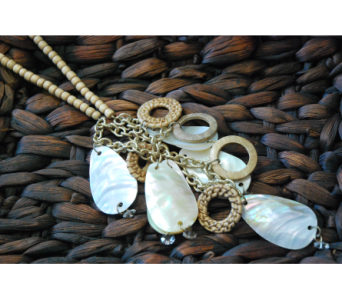 Ivory and Tan Necklace With Matching Earrings in Manhattan KS, Westloop Floral