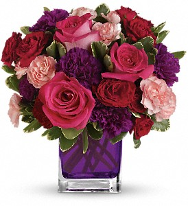 Bejeweled Beauty by Teleflora in Vancouver BC, Purple Rainbow Florist