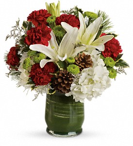 Christmas Collage Bouquet in Decatur IL, Svendsen Florist Inc.