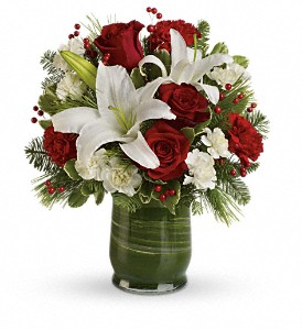 Holiday Hues Bouquet in DeKalb IL, Glidden Campus Florist & Greenhouse