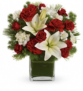Teleflora's Enchanted Winter Bouquet in Bakersfield CA, White Oaks Florist