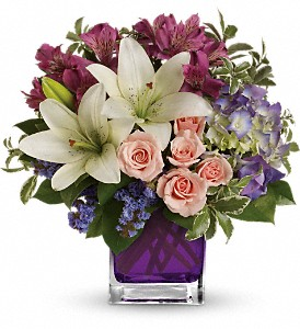 Teleflora's Garden Romance in Bellefontaine OH, A New Leaf Florist, Inc.