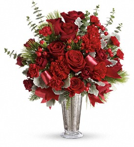 Teleflora's Holiday Touches Bouquet in DeKalb IL, Glidden Campus Florist & Greenhouse