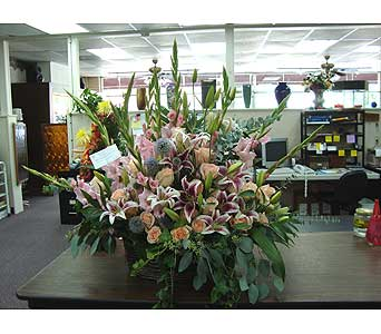 Sympathy - Willow Basket Arrangement in Houston TX, Athas Florist
