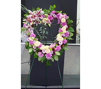 Sympathy - Open Heart Easel in Houston TX, Athas Florist