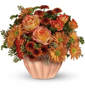 Teleflora's Joyful Hearth Bouquet in San Jose CA, Amy's Flowers