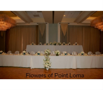 Head table in San Diego CA, Flowers Of Point Loma